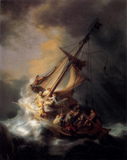 Cristo y la tormenta en el Mar de Galilea. Rembrandt