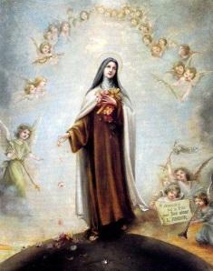 Resultado de imagen para SANTA TERESITA DEL NIÑO JESÚS y su angel de la guarda