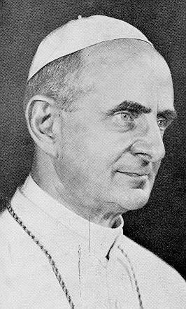 Papa Paulo VI amigo y sostén de los modernistas.