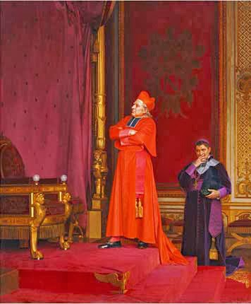 a-cardinal-looking-at-napoleons-throne