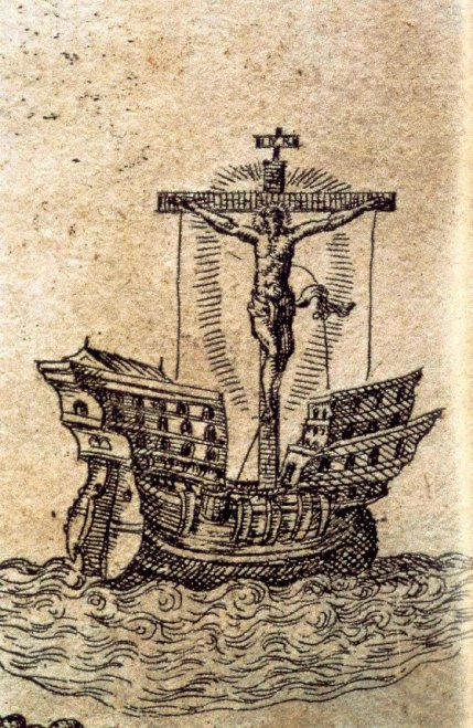 Alegoria Conquista Espanola (Rethorica Christiana 1579)