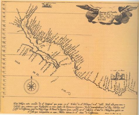 Mapa original de Fco. de Ulloa