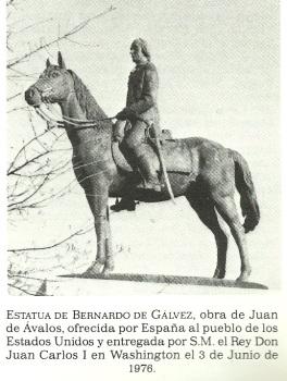 BERNARDO DE GALVEZ, estatua ecuestre