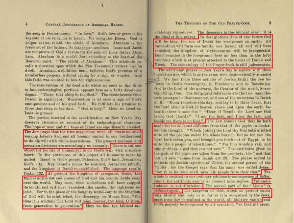 1897-1898 Year Book of the 8th Annual Central Conference of American Rabbis, pgs. 4-5