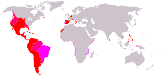MAPA DEL IMPERIO ESPAÑOL AÑO 1600